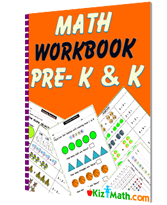 Math workbook for Pre K & kindergarten