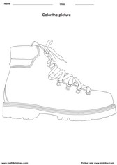 color a pair of shoes activity for kids