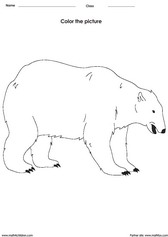 coloring a bbrown bear activity for children - PDF printable worksheet